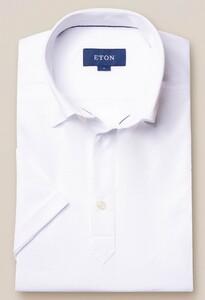 Eton Piqué Poloshirt Polo Wit