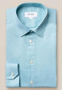 Eton Pointed Signature Twill Overhemd Licht Groen