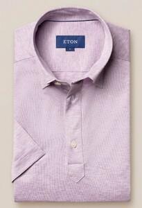 Eton Polo Jersey Polo Zacht Roze