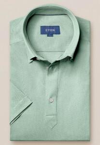 Eton Polo Popover Shirt Polo Pastel Groen