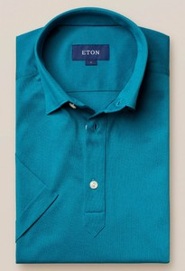 Eton Polo Popover Shirt Polo Teal