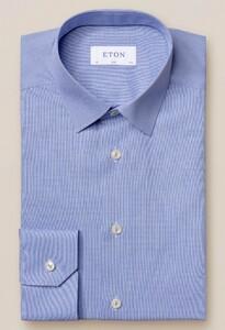 Eton Poplin Pointed Faux Uni Overhemd Blauw