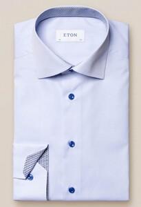 Eton Poplin Uni Cutaway Overhemd Licht Blauw