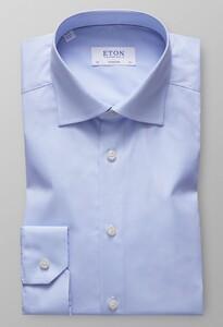 Eton Poplin Uni Overhemd Licht Blauw