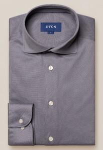 Eton Premium Uni Piqué Overhemd Grijs