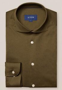 Eton Premium Uni Piqué Overhemd Groen