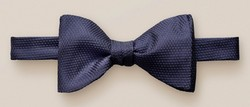 Eton Ready Tied Silk Lurex Blend Strikje Donker Blauw