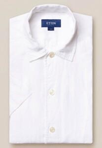 Eton Resort Box Short Sleeve Overhemd Wit