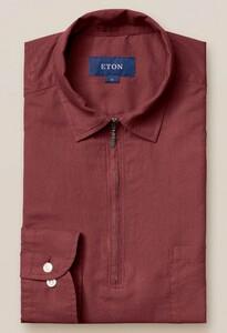 Eton Resort Zipper Uni Polo Shirt Poloshirt Dusty Red