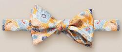 Eton Retro Flower Self Tied Strikje Licht Oranje Melange