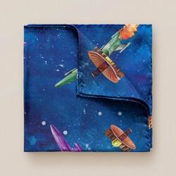 Eton Retrofuture Space Pochet Blauw