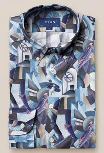 Eton Rocket Man Button Down Shirt Overhemd Blauw