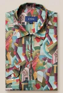 Eton Rocket Man Long Sleeve Zipper Polo Polo Multicolor