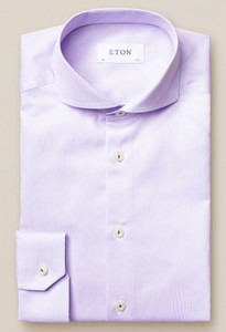 Eton Royal Signature Twill Extreme Cutaway Overhemd Paars Melange