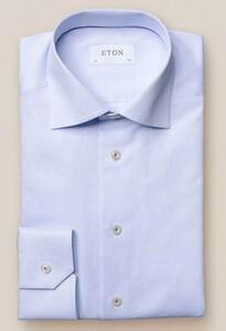Eton Royal Signature Twill Overhemd Licht Blauw