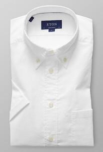 Eton Short Sleeve Natural Stretch Overhemd Wit
