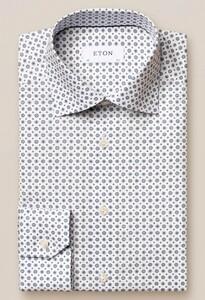 Eton Signature Twill Medallion Overhemd Blauw