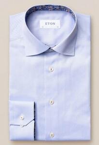 Eton Signature Twill Uni Cutaway Overhemd Licht Blauw