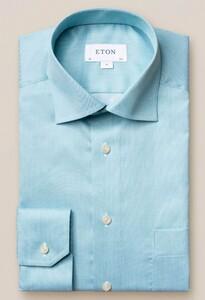 Eton Signature Twill Uni Cutaway Overhemd Licht Groen