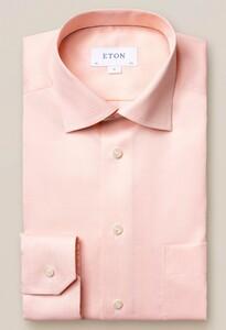Eton Signature Twill Uni Cutaway Overhemd Licht Oranje