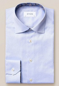 Eton Signature Twill Uni Cutaway Shirt Light Blue