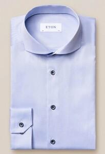 Eton Signature Twill Uni Overhemd Licht Blauw