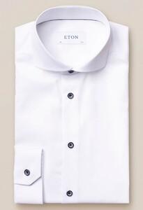Eton Signature Twill Uni Overhemd Wit