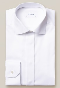 Eton Signature Twill With Love Embroidery Overhemd Wit