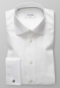 Eton Signature Uni French Cuff Overhemd Wit