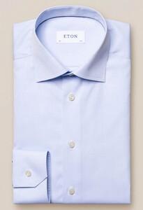 Eton Slim Uni Poplin Overhemd Licht Blauw Melange