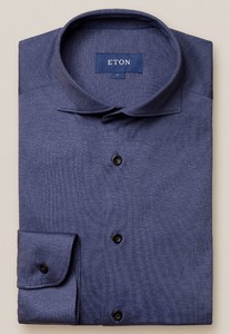 Eton Soft Jersey Uni Shirt Dark Evening Blue