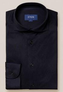 Eton Soft Jersey Uni Shirt Navy