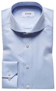 Eton Super Fine Herringbone Overhemd Licht Blauw