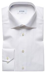Eton Super Fine Herringbone Shirt White