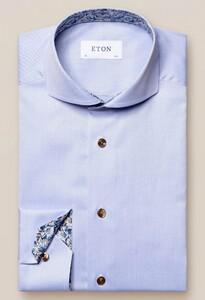Eton Super Slim Extreme Cutaway Uni Subtle Detail Overhemd Licht Blauw