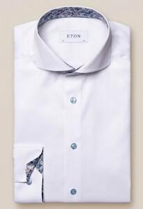 Eton Super Slim Extreme Cutaway Uni Subtle Detail Overhemd Wit