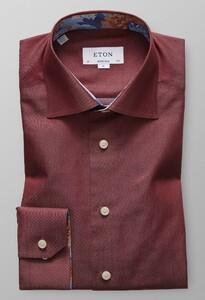 Eton Super Slim Uni Cotton Tencel Overhemd Burgundy