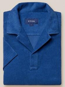 Eton Terry Popover Polo Polo Blauw