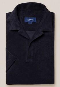 Eton Terry Popover Polo Polo Navy