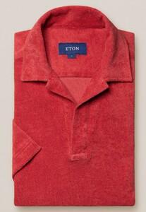 Eton Terry Popover Polo Polo Rood