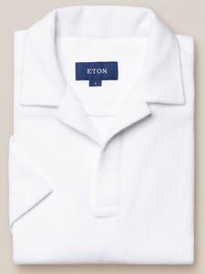 Eton Terry Popover Polo Polo Wit