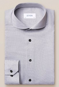 Eton Twill Extreme Cutaway Overhemd Grijs-Wit