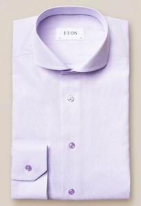 Eton Twill Extreme Cutaway Overhemd Licht Paars