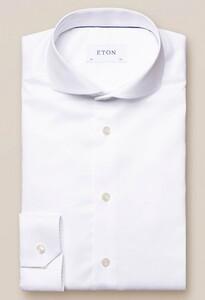 Eton Twill Stretch Overhemd Wit
