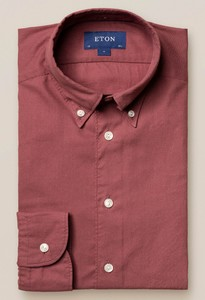 Eton Uni Flanel Button Under Overhemd Dusty Red
