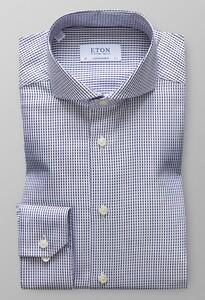 Eton Uni Houndstooth Shirt Navy