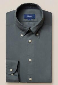 Eton Uni Lichtgewicht Flanel Overhemd Dusty Olive