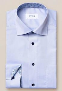 Eton Uni Signature Twill Overhemd Licht Blauw