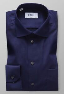 Eton Uni Signature Twill Overhemd Navy