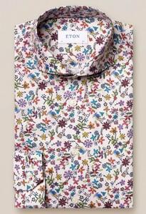 Eton Valley of Flowers Overhemd Donker Grijs